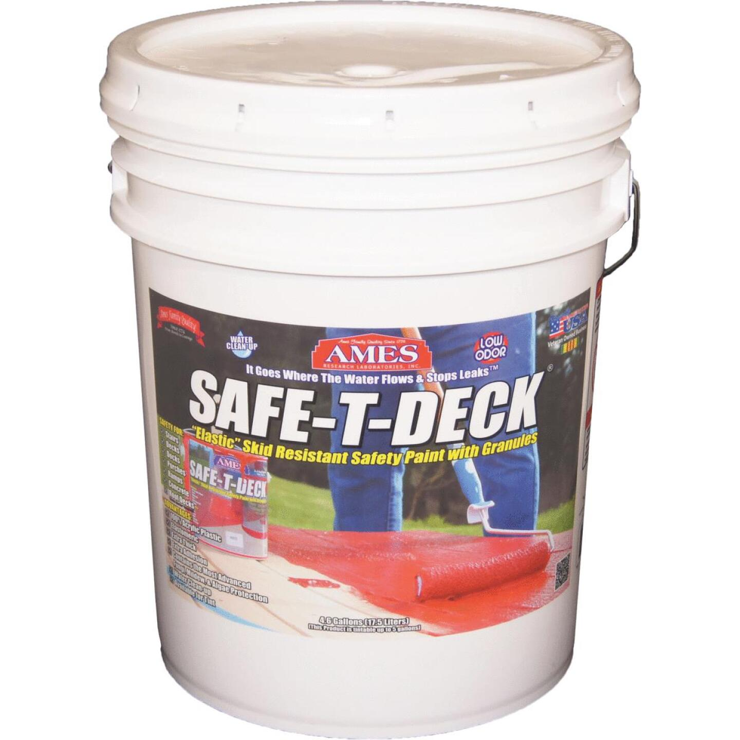 Ames Safe-T-Deck Tan Elastomeric Waterproofing Sealer, 5 Gal. Deck Paint Image 1