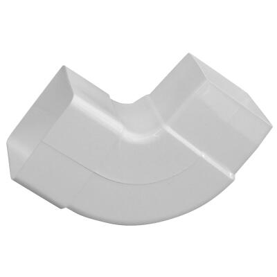 Raingo 2-1/2 In. Vinyl White Front or Side Downspout Elbow