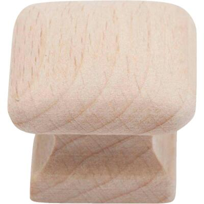 Do it Wood Hardwood Square 1 In. Cabinet Knob, (2-Pack)