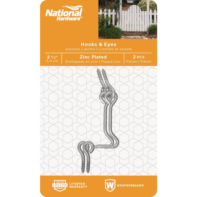 National 2-1/2 In. Steel Hook & Eye Bolt (2 Ct.) Image 2