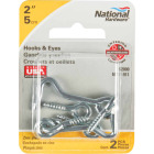 National 2 In. Steel Hook & Eye Bolt (2 Ct.) Image 2