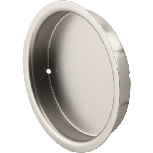 Prime-Line 2-1/8 In. Satin Nickel Closet Door Finger Pull (2 Count)