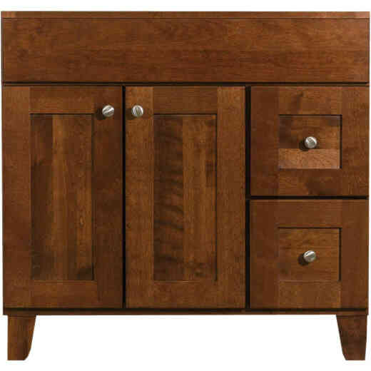 Bertch Osage Brindle 36 In. W x 34-1/2 In. H x 21 In. D Vanity Base, 2 Door/2 Drawer