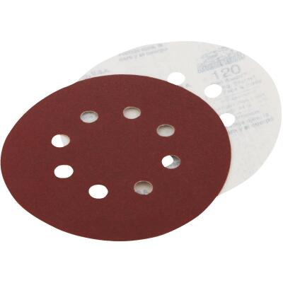 Do it Best 5 In. 220-Grit 8-Hole Pattern Vented Sanding Disc with Hook & Loop Backing (50-Pack)