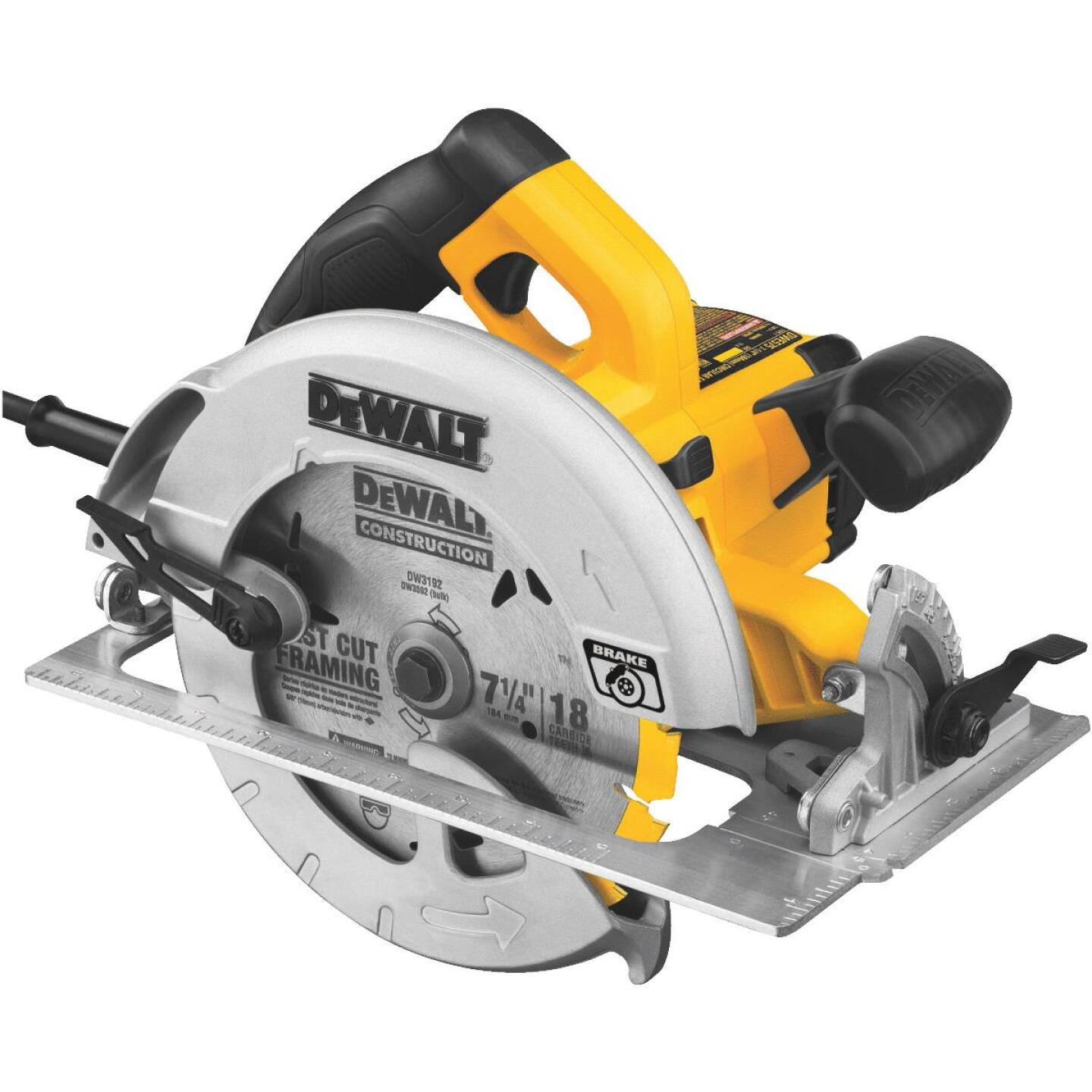 DeWalt 7-1/4 In. 15-Amp Circular Saw with Electric Brake Image 1