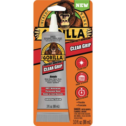 Gorilla Clear Grip 3.0 Oz. Multi-Purpose Adhesive