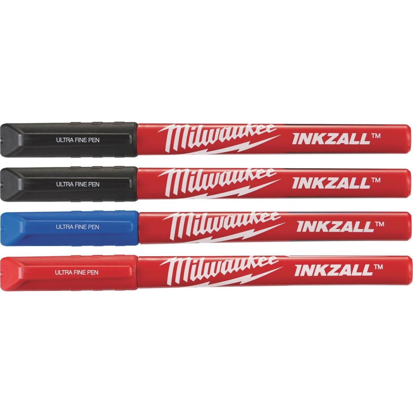 Milwaukee INKZALL Ultra Fine Point Various Color Job Site Pen (4-Pack) Image 1