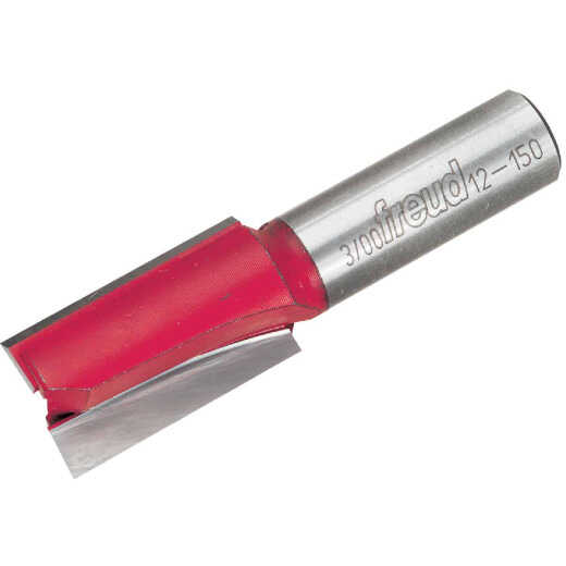 Freud Carbide Tip 23/32 In. Double Flute Straight Bit