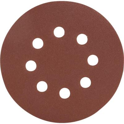 Do it Best 5 In. 120-Grit 8-Hole Pattern Vented Sanding Disc with Hook & Loop Backing (50-Pack)