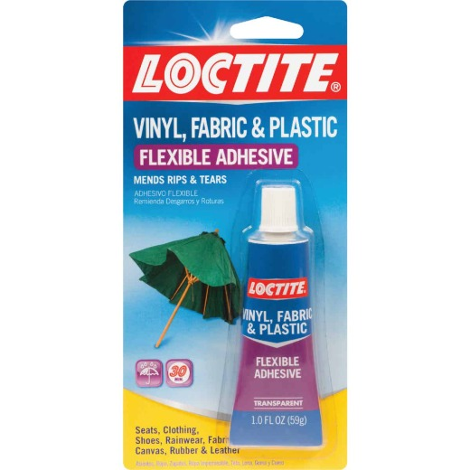 LOCTITE 1 Oz. Clear Vinyl, Fabric, & Plastic Flexible Repair Adhesive