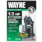 Wayne Water System 1/3 HP 115V Cast-Iron Submersible Sump Pump Image 2