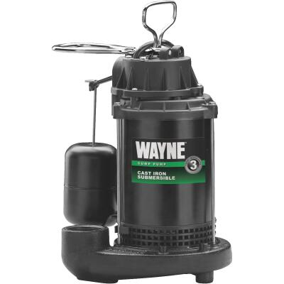 Wayne Water System 1/2 HP 115V Cast-Iron Submersible Sump Pump