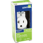 Leviton 20A White Commercial Grade 5-20R Shallow Single Outlet Image 2