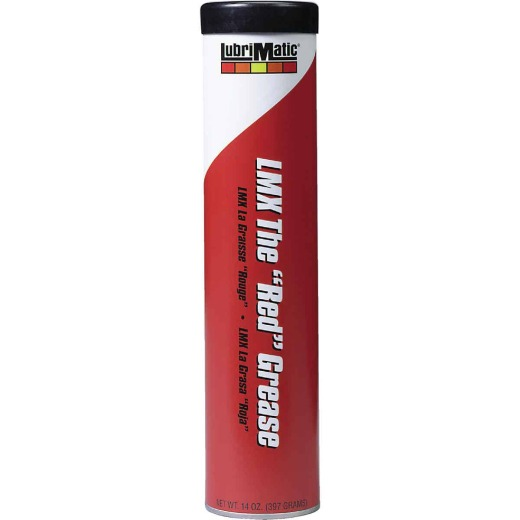 LubriMatic 14 Oz. Cartridge LMX Heavy-Duty Red Lithium Grease