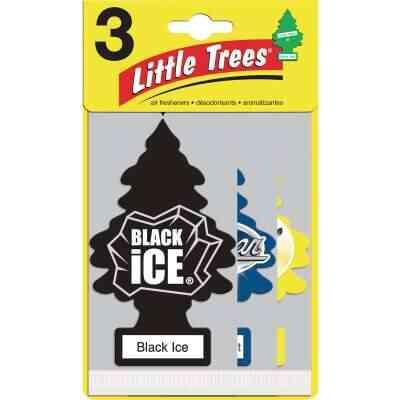 Little Trees Car Air Freshener, Vanillaroma, Black Ice, & New Car Scent (3-Pack)