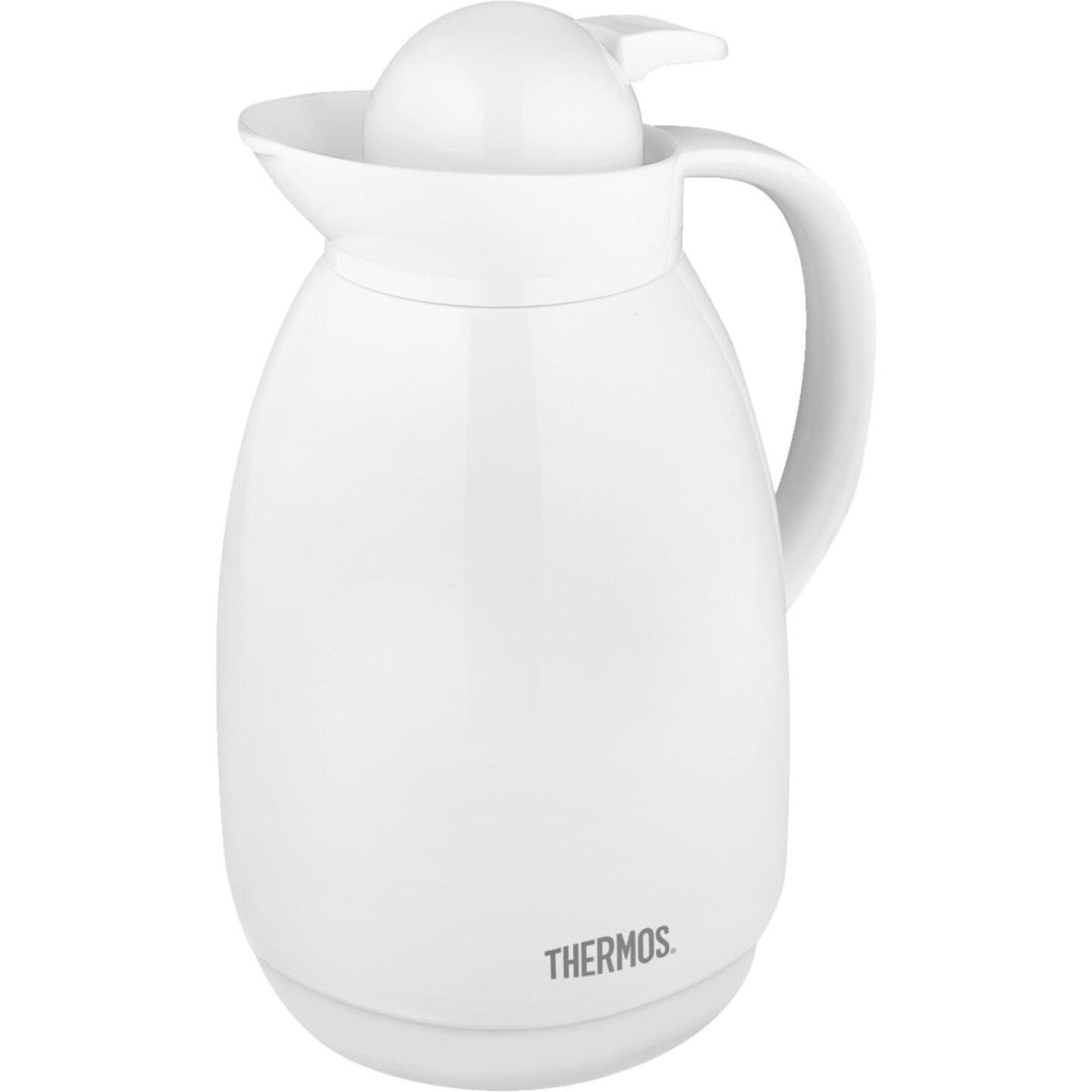 Thermos White Vacuum Insulated Glass Carafe  Image 1