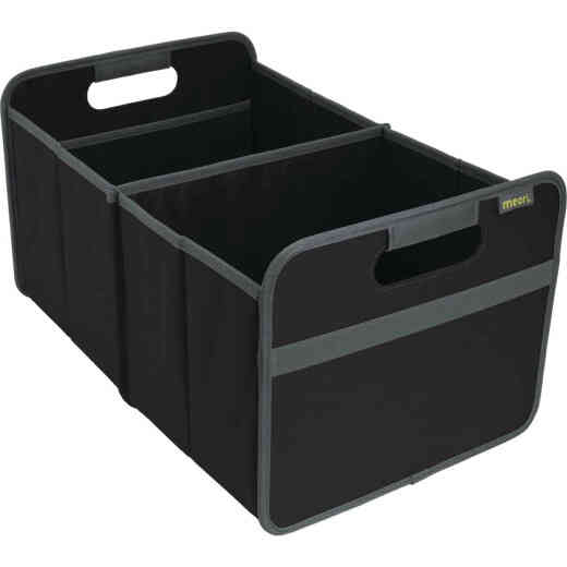 Meori 2-Compartment Lava Black Foldable Reusable Box
