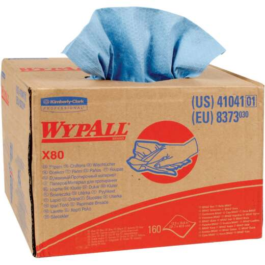 Kimberly Clark WypAll X80 Blue Wiper Cloth