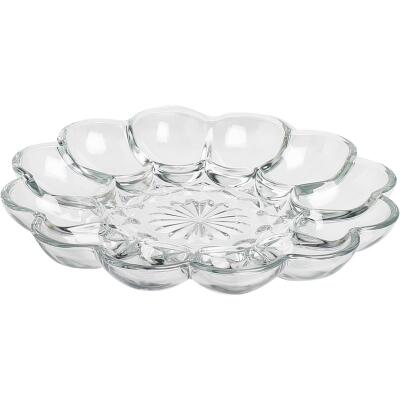 Anchor Hocking Clear Glass 10 In. Egg Plate