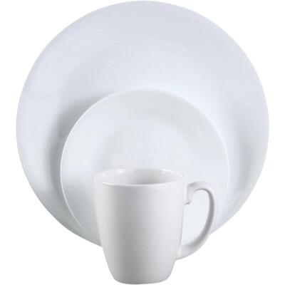 Corelle Winter Frost White Dinnerset (16 Piece)