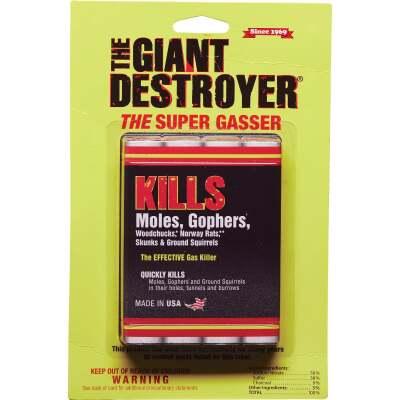 Atlas Giant Destroyer 4-Pack Gas Cartridges Mole & Gopher Killer