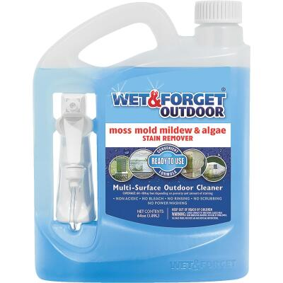 Wet & Forget 64 Oz. Ready To Use Trigger Spray Moss, Mildew, Algae, & Mold Stain Remover