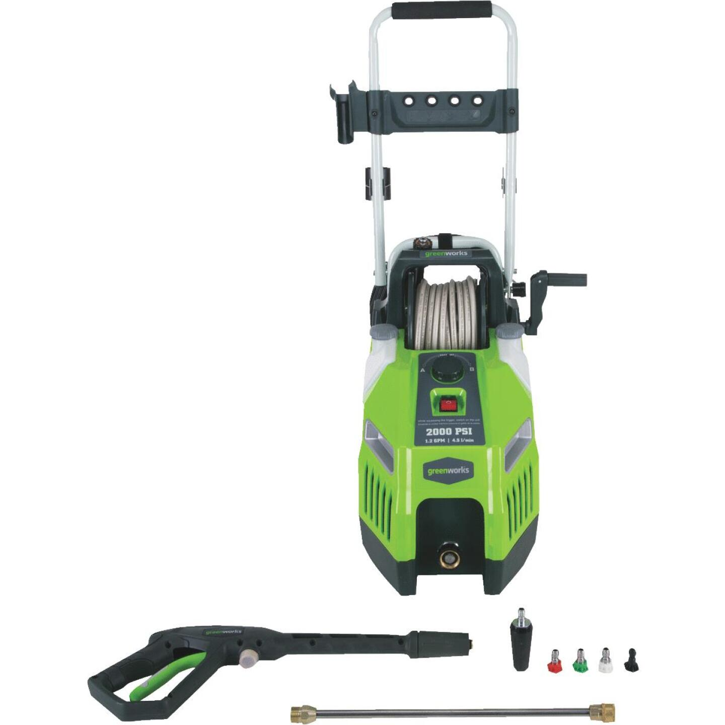 Greenworks 2000 psi 1.2 GPM Cold Water Pressure Washer Image 1