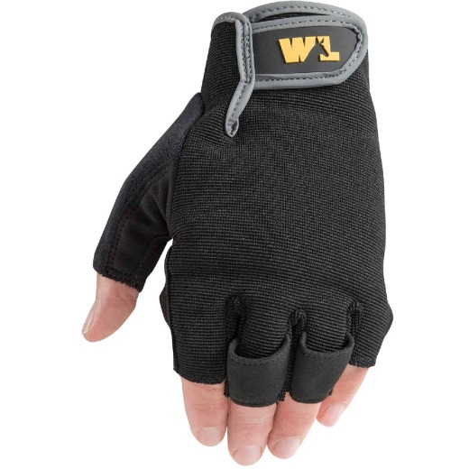 Wells Lamont Men's Medium Synthetic Leather Fingerless Glove