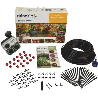 Raindrip 20-Container Patio Drip Irrigation Watering Kit