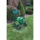 Best Garden 300 Ft. x 5/8 In. Green Metal 4-Wheel Portable Hose Reel Image 2