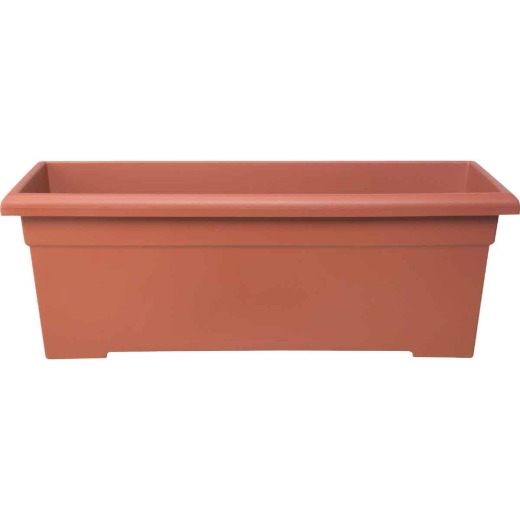 Myers 28 In. Poly Romana Clay Color Flower Box