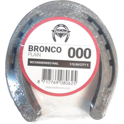 Diamond Plain Bronco Front & Hind 4-1/2 In. Horseshoe (1-Pair)