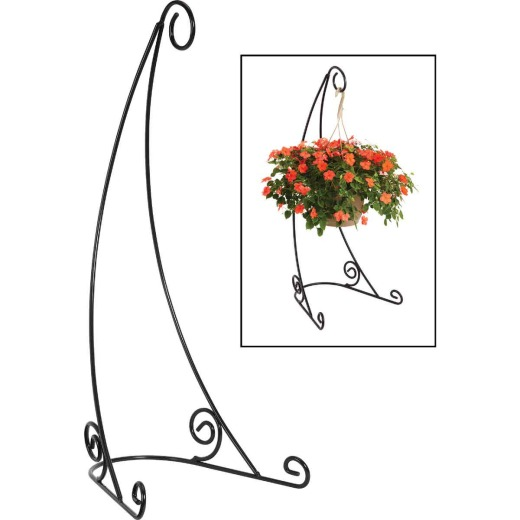 Best Garden 40 In. H. Black Steel Plant Hanger Stand
