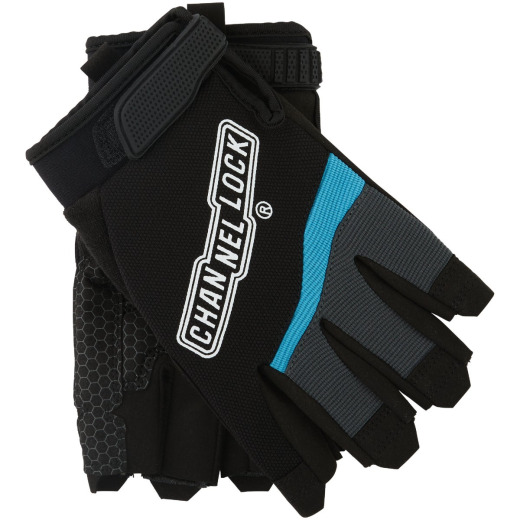 Channellock Men's Large Synthetic Fingerless Work Glove
