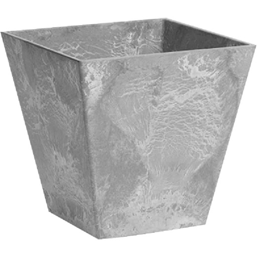 Novelty ArtStone Ella 10 In. W. x 9.75 In. H. x 10 In. L. Gray Resin Planter