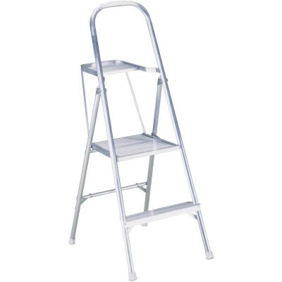 Werner 8 Ft. Reach Tubular Aluminum Platform Ladder with 200 Lb. Load Capacity Type III Ladder Rating