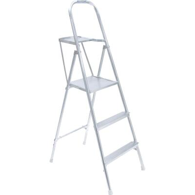 Werner 9 Ft. Reach Tubular Aluminum Platform Ladder with 200 Lb. Load Capacity Type III Ladder Rating