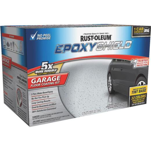 Rust-Oleum EPOXYSHIELD Gloss Garage Floor Coating Kit, Tint Base, 120 Oz.