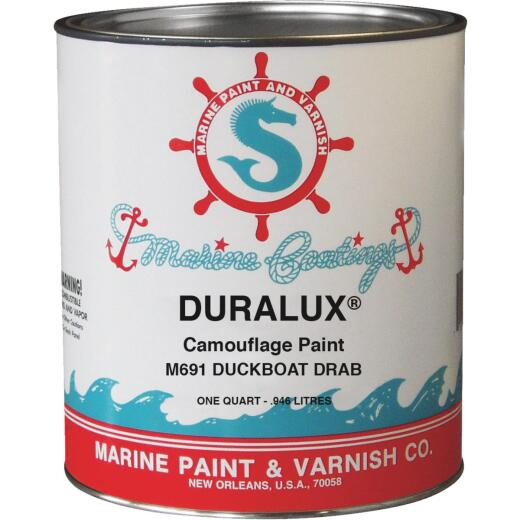 DURALUX Flat Camoulflage Marine Paint, Camouflage Duckboat Drab, 1 Gal.