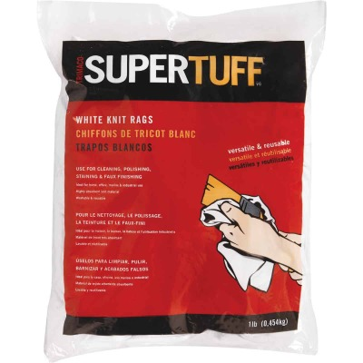 Trimaco SuperTuff 1 Lb. White Staining Rags