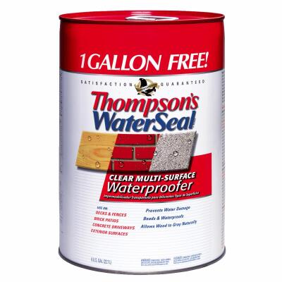 Thompsons WaterSeal Clear VOC MultiSurface Waterproofing Sealer, 6 Gal.
