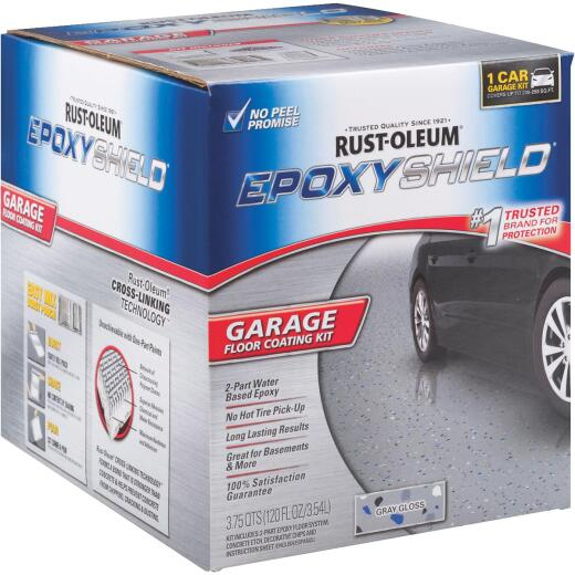 Rust-Oleum EPOXYSHIELD Gloss Garage Floor Coating Kit, Gray, 120 Oz.