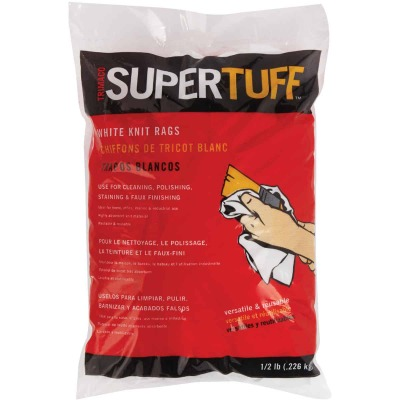 Trimaco SuperTuff 8 Oz. White Knit Staining Rags
