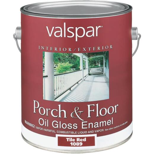 Valspar 1 Gal. Tile Red Oil Based Gloss Porch & Floor Enamel