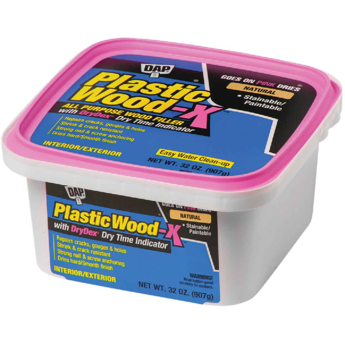 Dap Plastic Wood-X 32 Oz. All Purpose Wood Filler with DryDex Dry Time Indicator Image 1