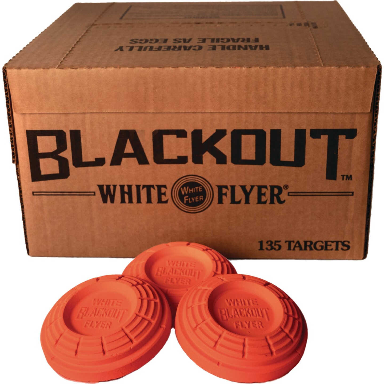 White Flyer Blackout Orange Clay Target (135-Pack) Image 2