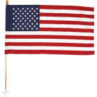 Valley Forge 2.5 Ft. x 4 Ft. Polycotton American Flag & 5 Ft. Pole Kit Image 4
