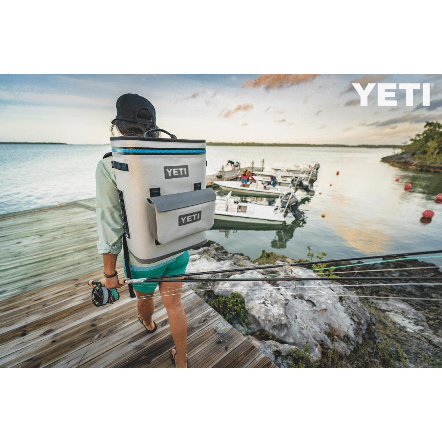 Yeti Hopper BackFlip 24 20-Can Soft-Side Cooler, Gray Image 8