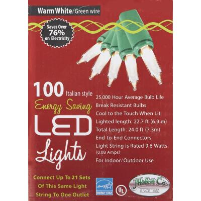 J Hofert White 100-Bulb Italian Style LED Light Set